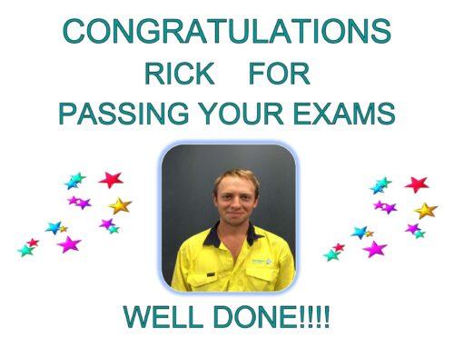 Congratulations Rick!!